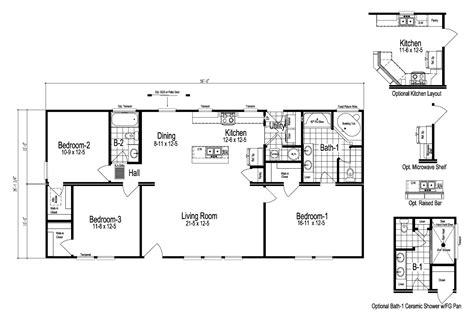 bristol manufactured home floor plan  modular floor