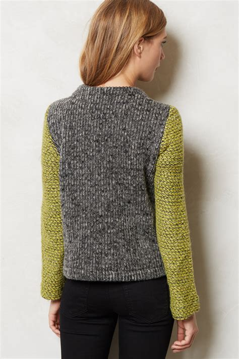 anthropologie sweaters anthropologie moto sweater jacket in green lyst