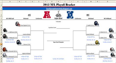excel spreadsheets  printable  nfl playoff bracket