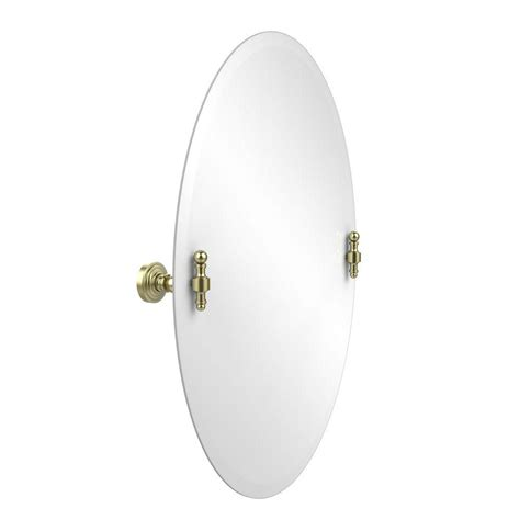 tilting bathroom mirror bronze frameless oval tilt mirror with beveled edge rubbed