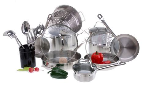 shop philippe richard  pc stainless steel cookware set