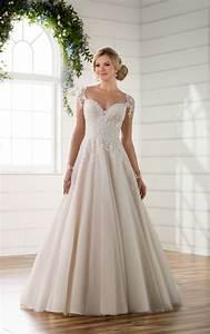 Illusion sleeve wedding dress with keyhole back essense for Illusion sleeve wedding dress