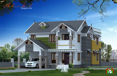square feet kerala home elevation architecture kerala