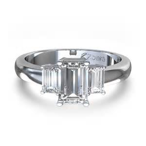 Emerald Cut Three Diamond Ring