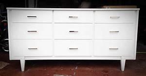White, Mid-century, Modern, Dresser