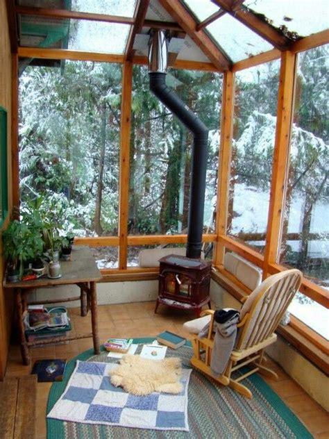 idees pour amenager  porche ou une veranda en hiver