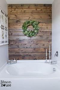 7 idees deco avec du bois pour refaire sa salle de bain With refaire mur salle de bain