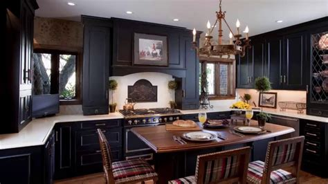 how to paint kitchen cabinets black youtube