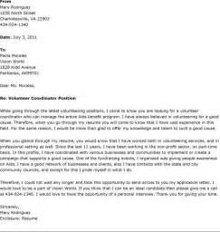 sample volunteer cover letter