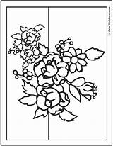 Coloring Flower Flowers Bouquet Pdf Primrose Wildflower Printable Getdrawings Sheets Unique Adult Daisies Books sketch template