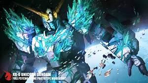 Unicorn Gundam Destroy Green Mode Episode 7 - HD Poster