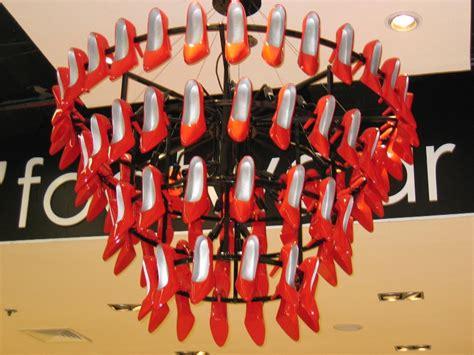 shoe chandelier fashion pulis landmark s shoe rack chandeliers