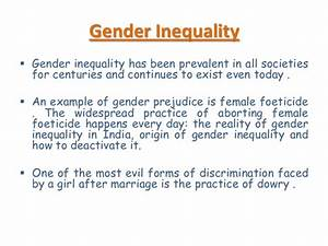 thesis statements about gender inequality