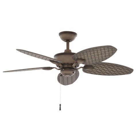 48 outdoor ceiling fan hton bay havana 48 in indoor outdoor matte white