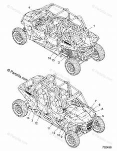 Polaris Side By Side 2019 Oem Parts Diagram For Body