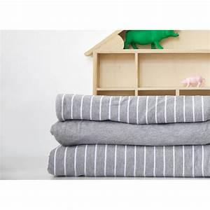 Parure De Lit Gris : linge de lit enfants en jersey de coton gris llafranc par mikmax ~ Teatrodelosmanantiales.com Idées de Décoration