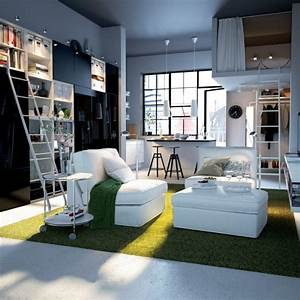 Big design ideas for small studio apartments for Small studio apartment interior design ideas