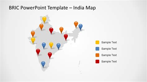 powerpoint map templates bric maps template for powerpoint slidemodel