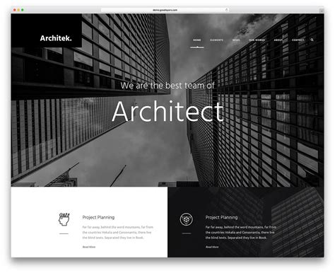 Best Architectural Website best themes for architects and architectural