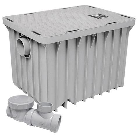 kitchen grease trap design canplas 3920a02 grease trap 20 gal min 40 lb capacity 2 4924