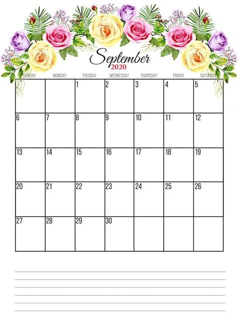 floral  monthly calendar calendar