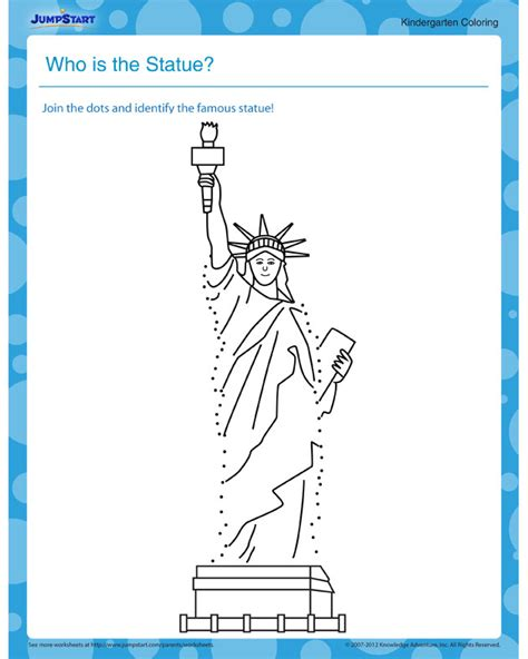 statue statue  liberty coloring page