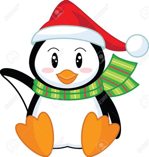 Penguin Christmas Clipart Clipground