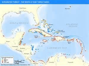 Caribbean Coral Reef Map