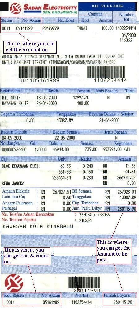 sabah el sample bill standard chartered malaysia