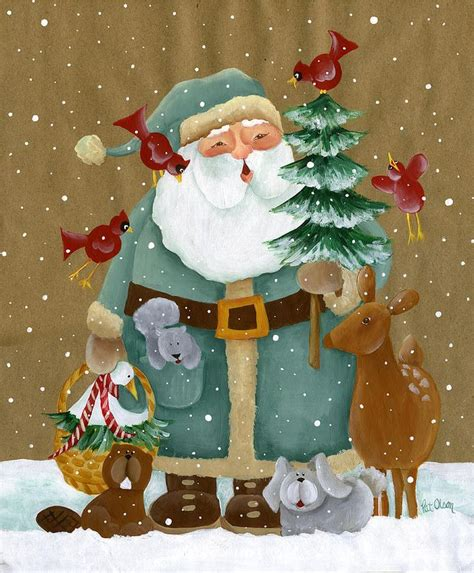 oh christmas string folk art 1000 ideas about santa paintings on paintings canvas paintings