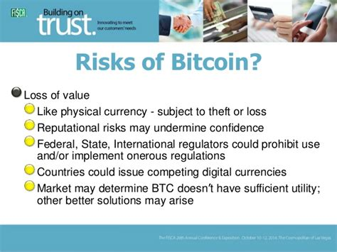 The risks of bitcoin use. Bitcoin and Other Digital Currencies: The Latest Issues in Regulation…