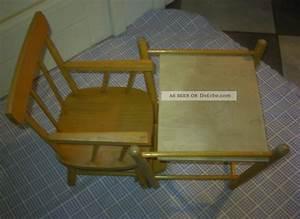 Tisch Klappbar Holz : stuhl hochstuhl puppenstuhl klappbar holz mit tisch 50er jahre antik vintage ~ Orissabook.com Haus und Dekorationen