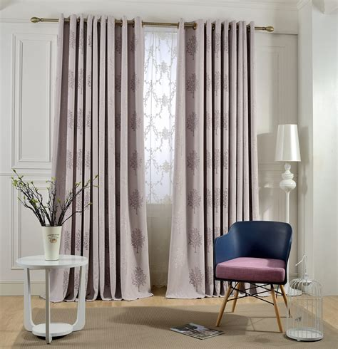 Living Room Curtains At Macy S by High Quality Tree Embroidered Linen Blackout Curtains For