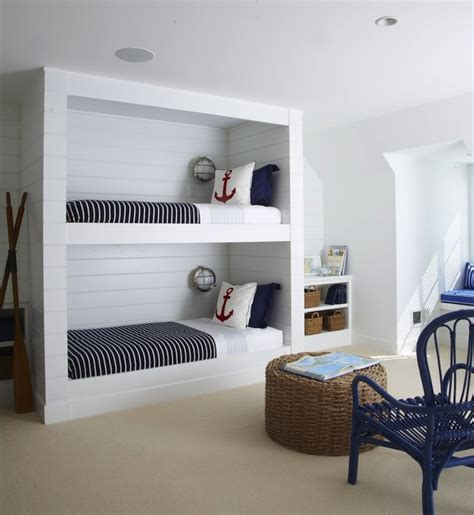 nautical bunk beds nautical built in bunk beds cottage boy s room lynn morgan design