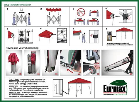 canopy  instructions image   canopy tent instructions