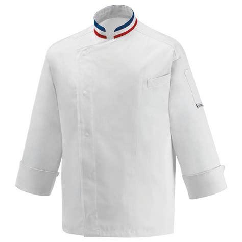 veste de cuisine homme veste de cuisine mof col bleu blanc broderie