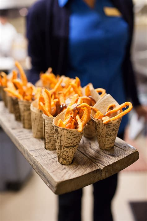 passed french fry appetizers