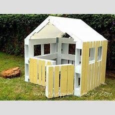 Kleines Haus Für Die Kinder Von Paletten 9 Merke