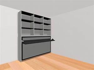 Lit Avec Armoire : armoire lit transversale ares avec bureau integre couchage 105 22 190 cm ~ Teatrodelosmanantiales.com Idées de Décoration