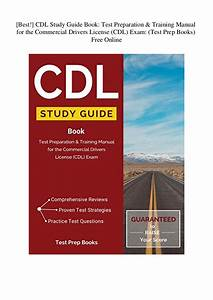 Best   Cdl Study Guide Book Test Preparation  U0026 Training