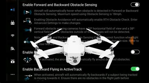disable  obstacle avoidance sensors dji mavic