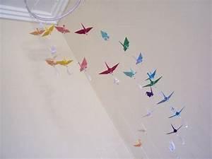 Mobile Bébé Original : m bile de 36 tsurus 01 sakura origami ateli elo7 ~ Teatrodelosmanantiales.com Idées de Décoration
