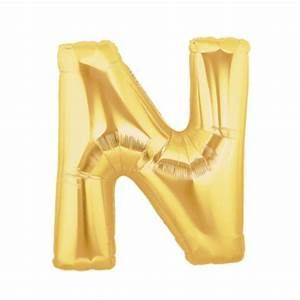 gold letter n balloon gold letter balloon 40 With helium filled letter balloons