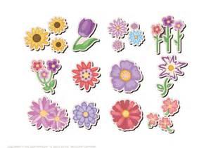 printable flower stickers  printable papercraft