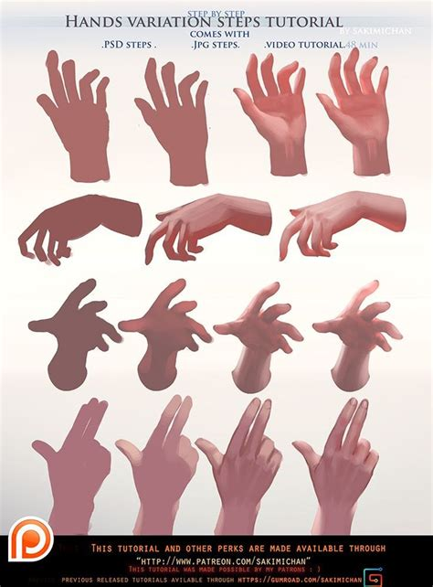 painted hands variation steps tutorial packterm