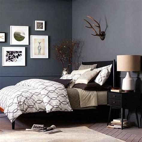 schicke schwarze schlafzimmermoebel eleganter charme