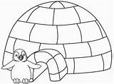 Igloo Coloring Coloriage sketch template