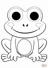 Frog Coloring Pages Cartoon Frogs Printable Cute Da Colorare Supercoloring Verde Sheets Drawing Paper Immagini sketch template