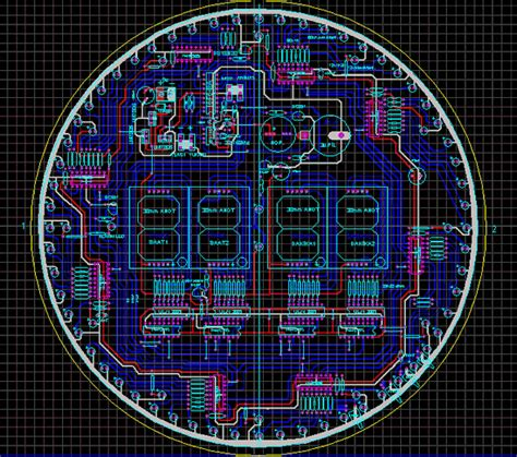 Picf Led Animated Clock Circuit Picbasic