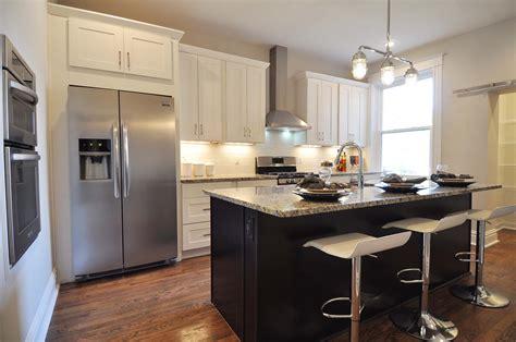 shaker espresso kitchen cabinets updated kitchen white shaker cabinets and an espresso 5157